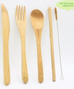 Bộ thìa nĩa bằng tre