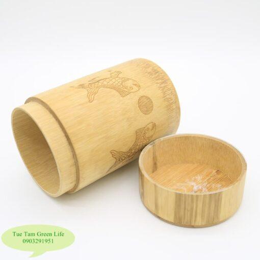 Hộp đựng trà làm từ tre